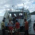 bateau à fond de verre réserve Cousteau Guadeloupe